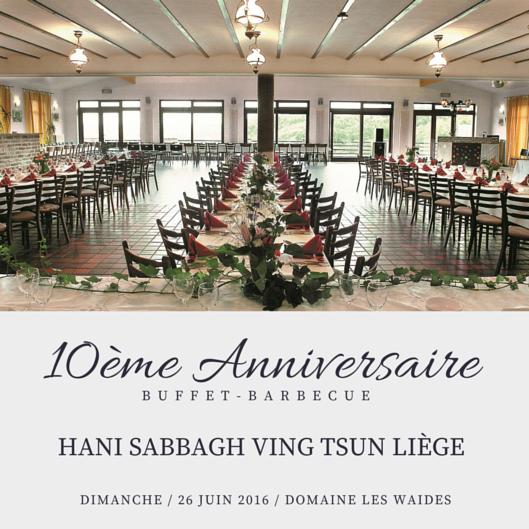 Barbecue 10e Anniversaire Ving Tsun Liège Invitation